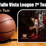 Boys Basketball 2020 Valle Vista 1st Team – Noah Tsai