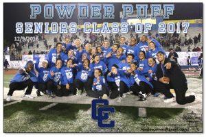 12-9-2016 POWDER PUFF Seniors 17 vs Juniors 18