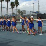 Chino High School Girls Varsity Tennis falls to Bellflower High School 77-76