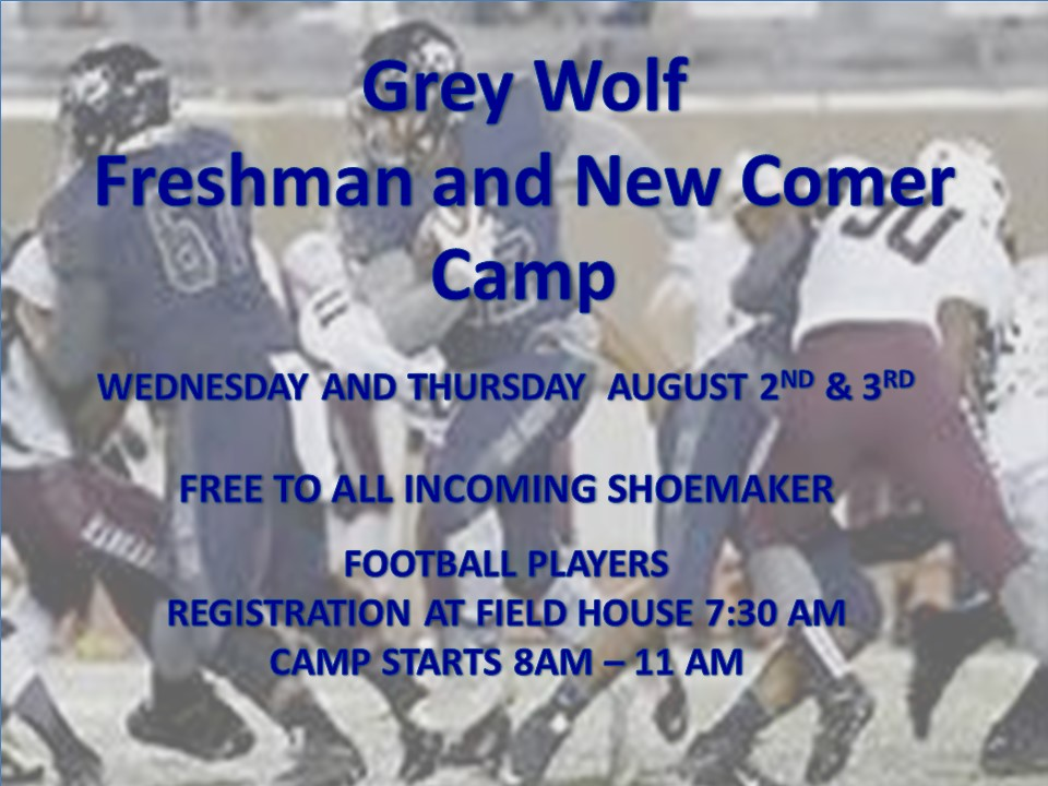 Shoemaker Freshman Football Camp