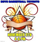 Boys Basketball Tryouts Nov 9th