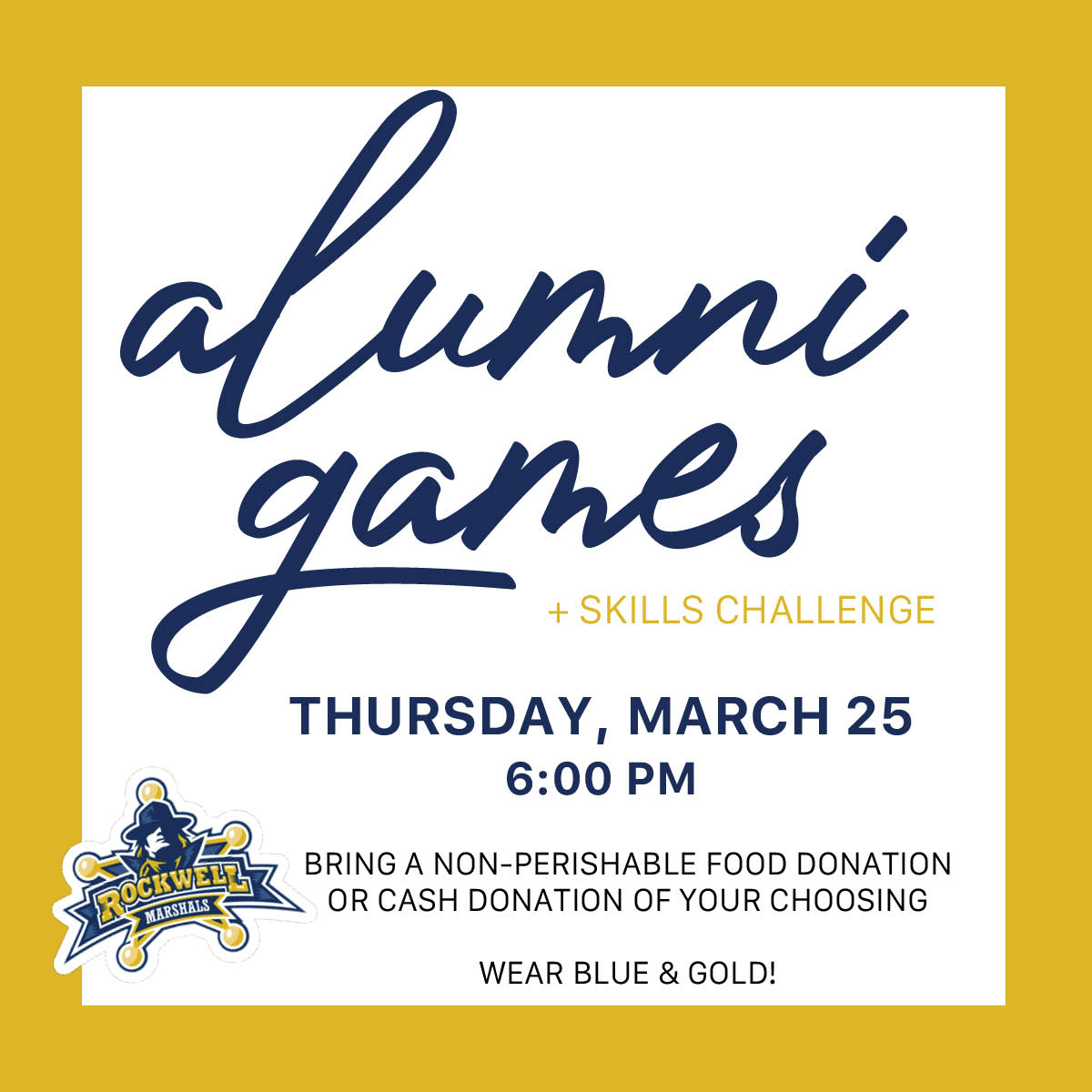 Alumni Game 3/25 @ 6 pm