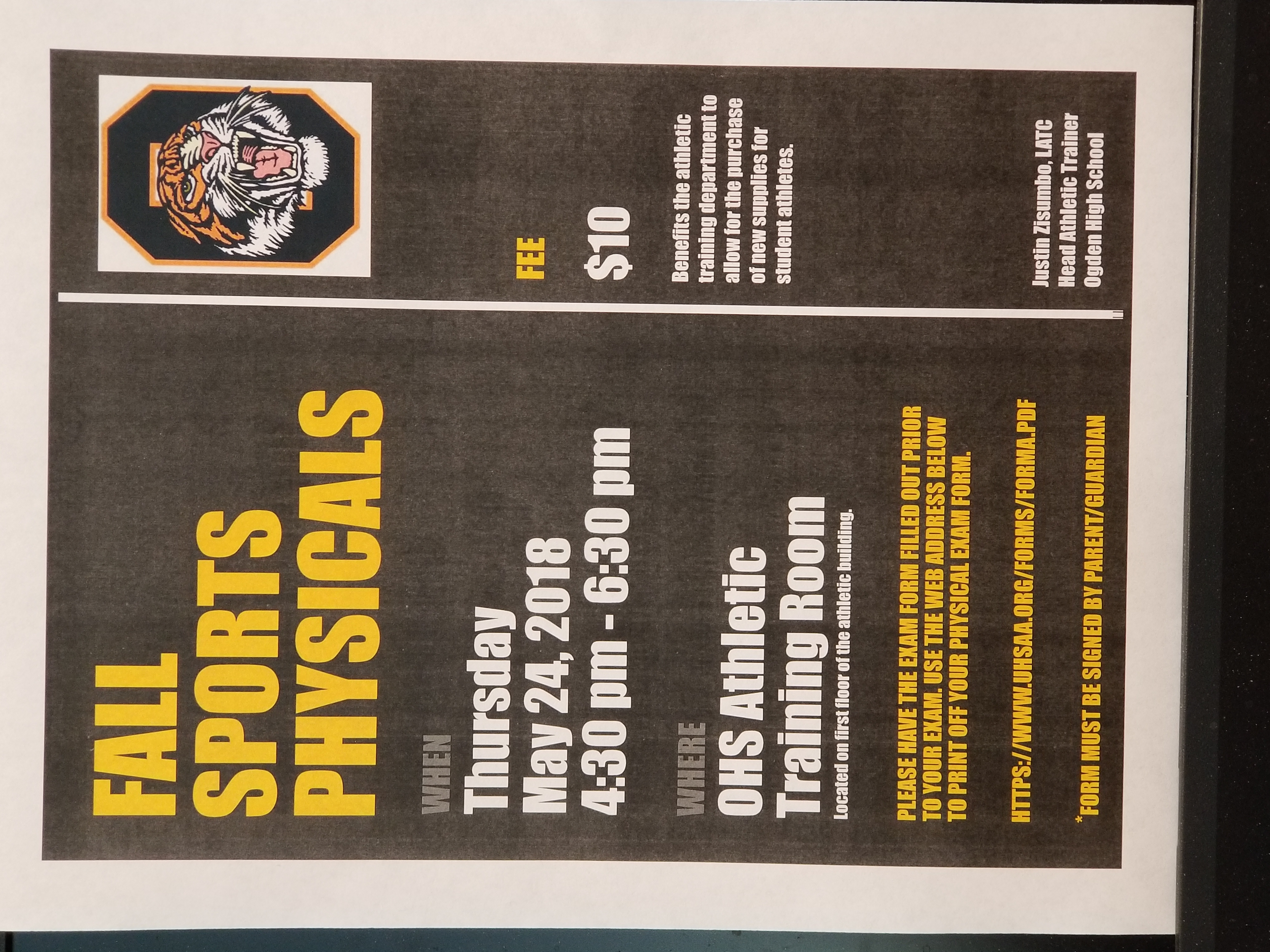 Fall Sports Physicals