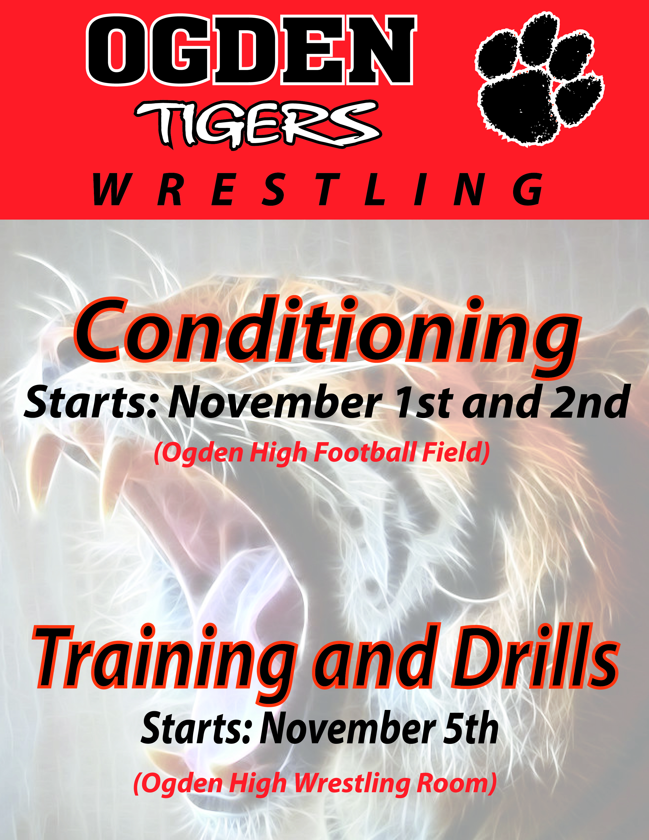 Wrestling Conditioning This Week
