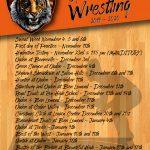 2019-20 Wrestling Schedule