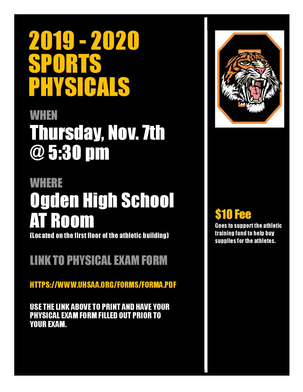 Sports Physicals at OHS
