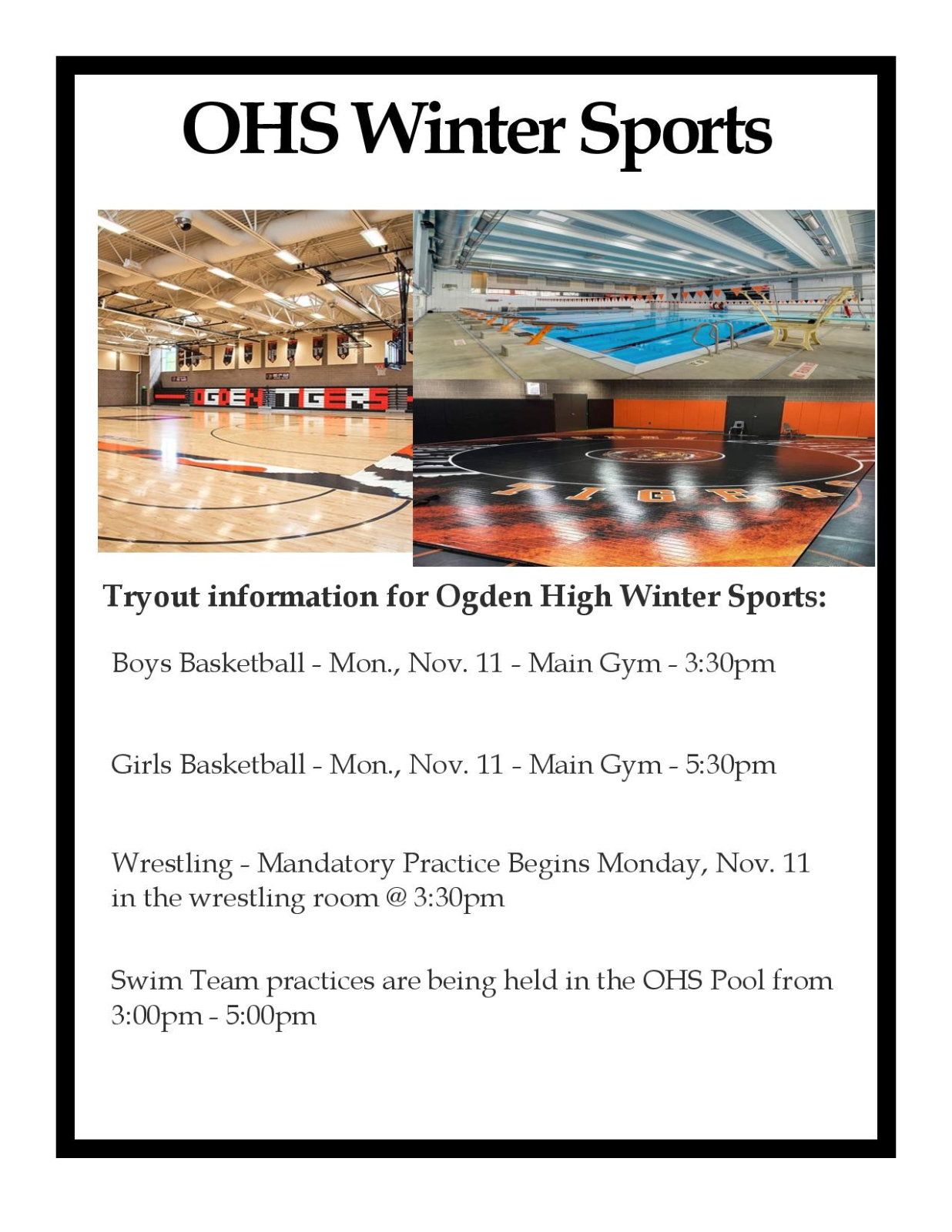 Winter Sports Tryouts