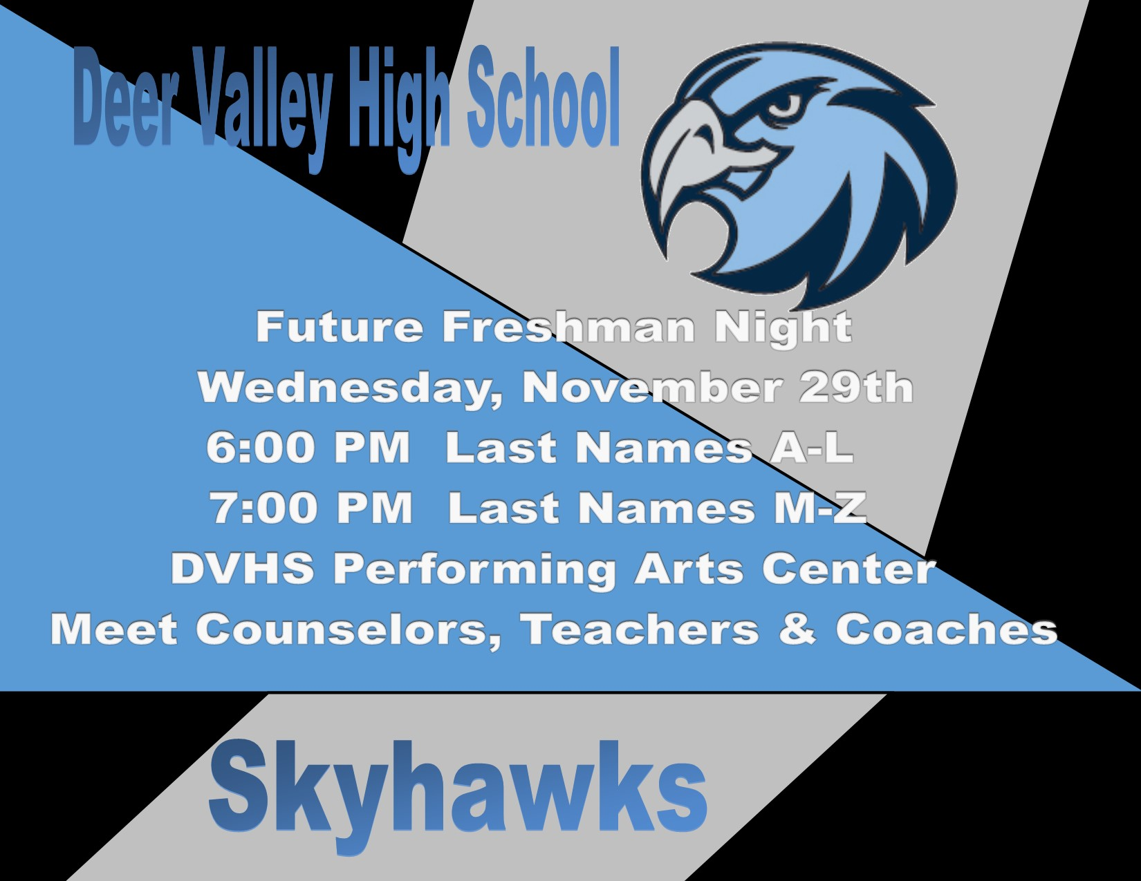 Future Freshman Night – Wednesday, 11/29/17