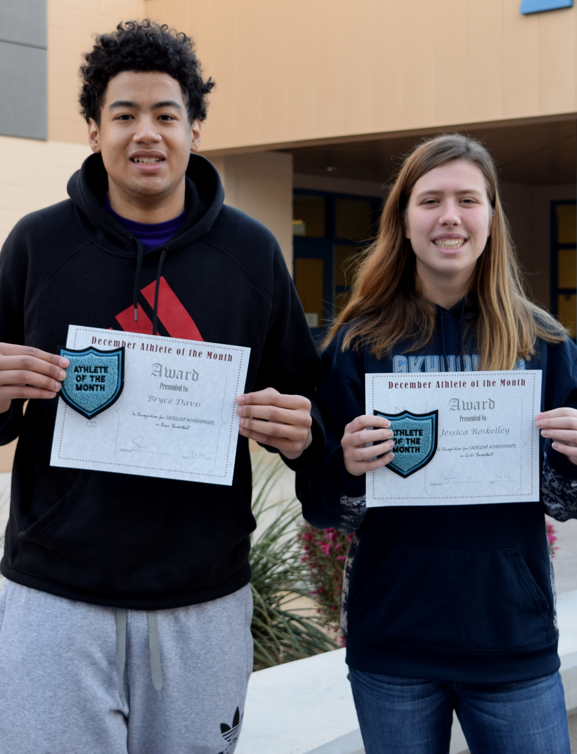 Congratulations December Athletes of the Month – Bryce Davis and Jessica Roskelley!