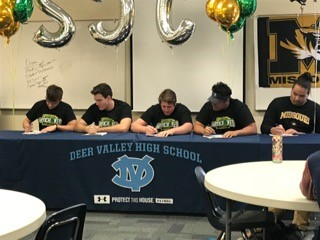 Congratulations to our Football Players Signing Letters of Intent on National Sports Signing Day!