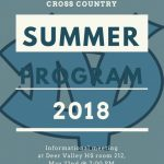 Deer Valley Cross Country Summer Program Information Meeting Tuesday!