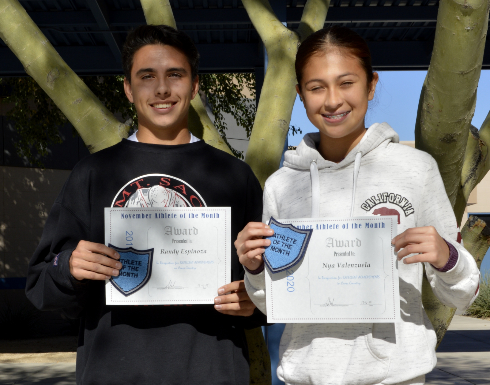 Congratulations November Athletes of the Month!
