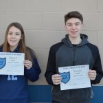 Rickelle Andrade and Jackson Leyba named January Anthletes of the Month!