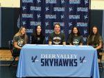 DVHS holds Letter of Intent Signing Celebration for Five College–Bound Athletes: Phillip Carr, Natalie Lindsay, Avrey Dunn, Allison Howard & Tatum Stelter!