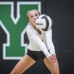 Raider VB Wins 17th; Gates Records 1,000th Dig