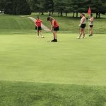 Golf Shoots Low Score of 179; Defeat RS