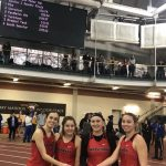 Raider Indoor Track Results; Girls 4×200 Set School Record