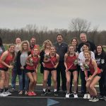 Girls Track Wins on Senior Night