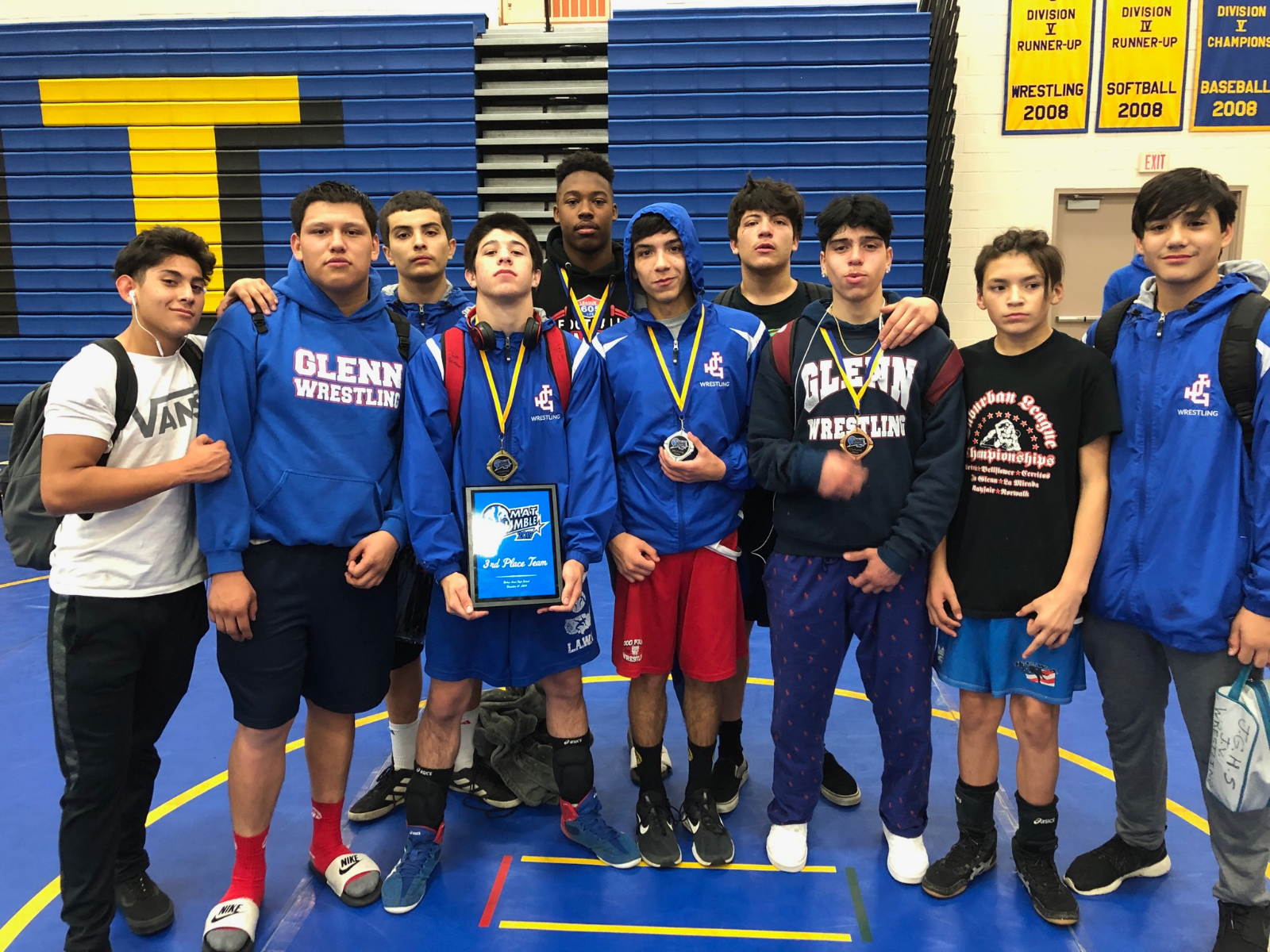 Varsity Wrestling Places at Tournament