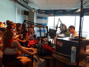 Cheerleaders at KISS FM