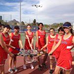 Coronado High School Girls Varsity Tennis falls to Betty H Fairfax High School 0-9