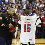 ALL AMERICAN BOWL JERSEY PRESENTED TO K SIVERAND