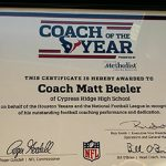 TEXANS 2015 HIGH SCHOOL COACH OF THE YEAR — MBEELER!!!!
