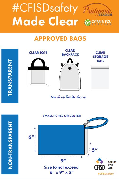 2018 Stadium Bag Policy