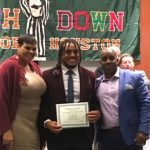 DD REDMOND RECOGNIZED AT TOUCHDOWN CLUB OF HOUSTON