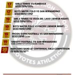 Athletics for the Week of October 15 – 20
