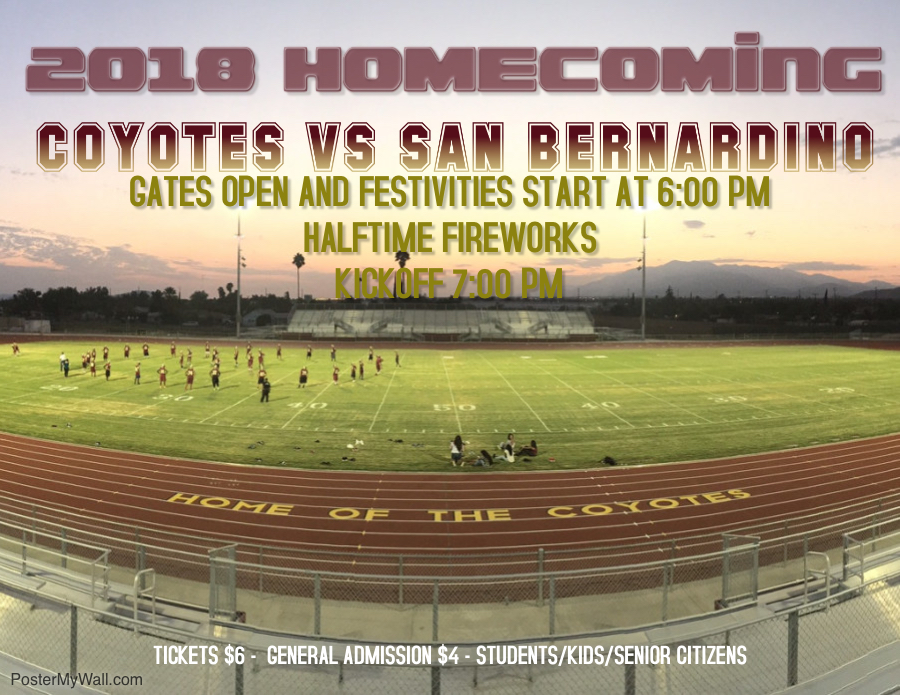 HOMECOMING THIS FRIDAY OCTOBER 19