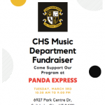 CHS Music Department Fundraiser Flyer