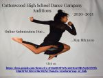 Cottonwood High School Dance Company Auditions 2020-2021 Online submissions due May 8th 2020