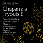 Chaparrals Tryouts