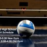 Girls Volleyball Practice Schedule