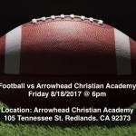 Football Scrimmage vs Arrowhead Christian Academy