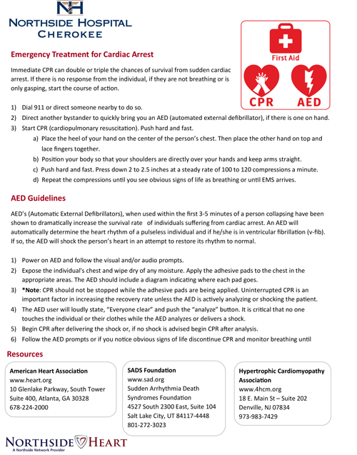 Emergency Treatment for Cardiac Arrest