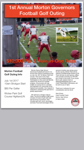 1st Annual Morton Football Golf Outing July 1st