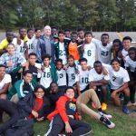 Parkdale High School Boys Varsity Soccer beat Bowie High School 2-1