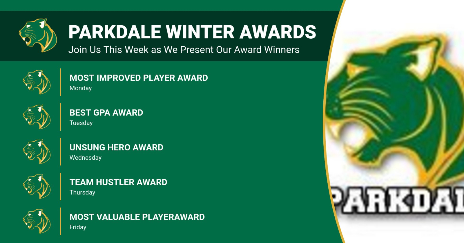 Parkdale Winter Award Winners First of Five Part Series