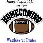 Homecoming Football: WESTLAKE vs HUNTER