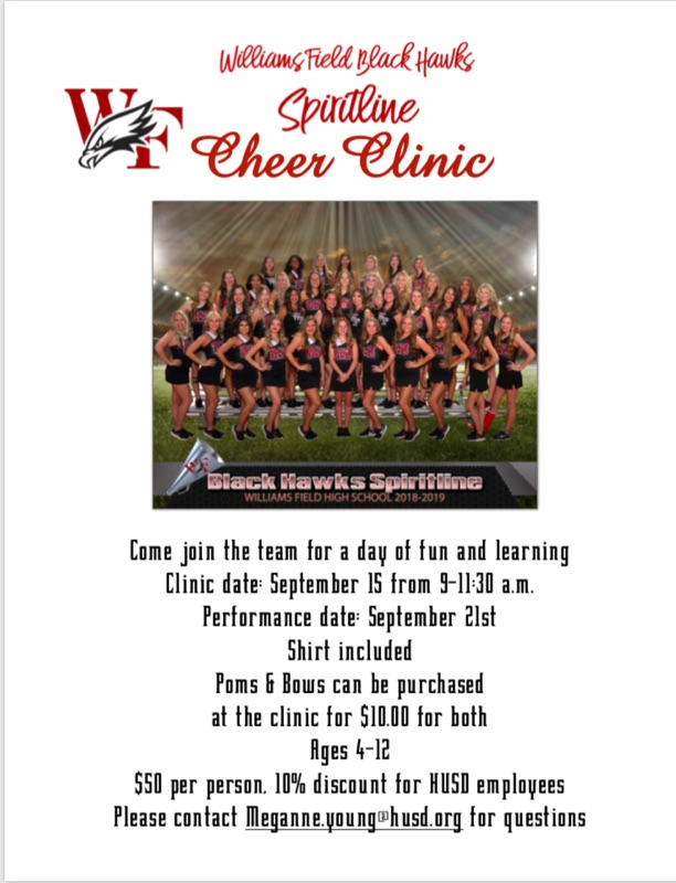Mini Black Hawk cheer clinic
