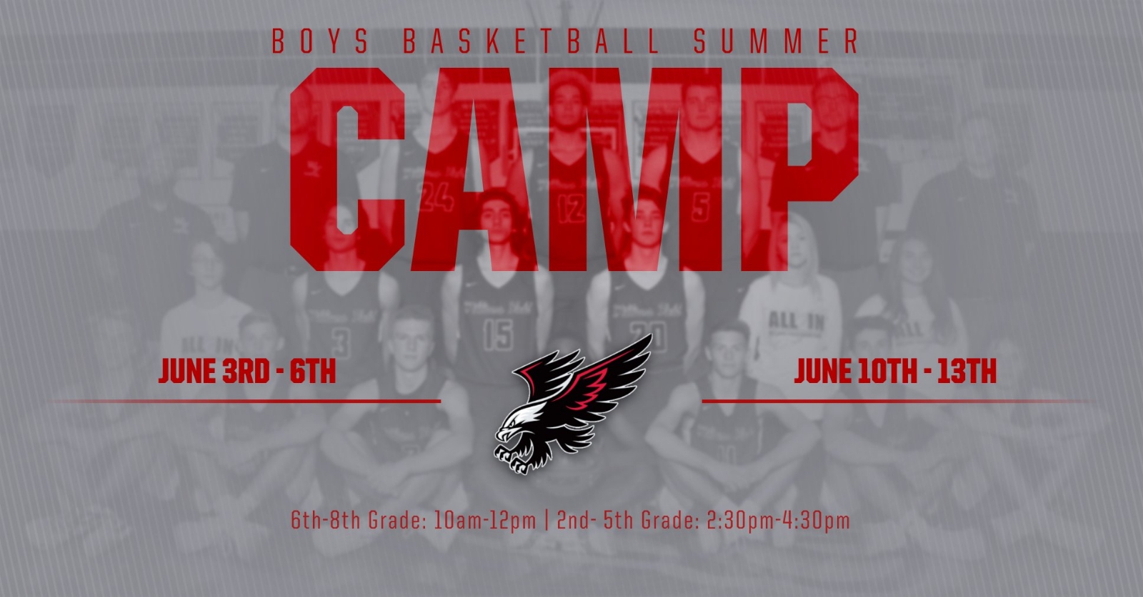 Boys Basketball Summer Camp 2019!