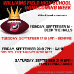 WFHS Homecoming Week Events