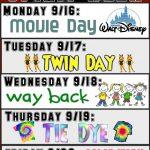 WFHS Spirit Week Days