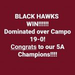 Black Hawks Win 5A State Championship!