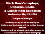 5/20 is Item Return and Locker Clean Out Day