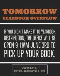 Yearbook Pick Up Date Extended Until 6/3/2020