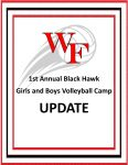 1st ANNUAL BLACK HAWK GIRLS AND BOYS VOLLEYBALL CAMP