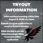 Blackhawk Cheerleading Tryout information